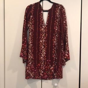 Floral Mini dress with bell sleeves